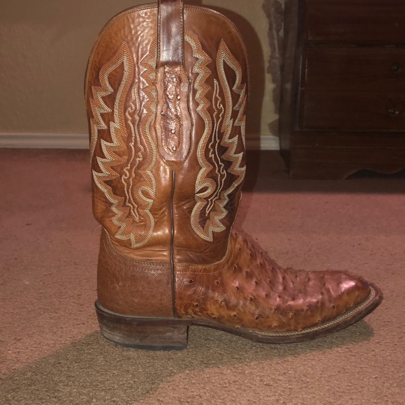 540c66b8817 Lucchese Men's size 10 1/2. Tan Ostrich Exotic.